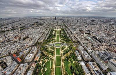Paris Wide View Art Print by Ioan Panaite