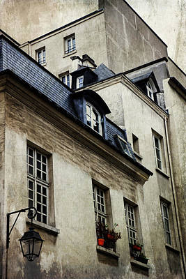 Paris Skyline Royalty-Free and Rights-Managed Images - Paris Window on the World by Evie Carrier