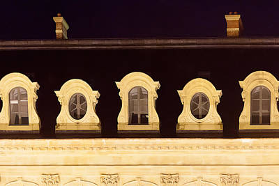 Arcitecture Photograph - Paris Windows by Art Block Collections