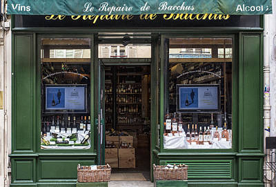Paris Wine Bottles Photograph - Paris Wine Store by Georgia Fowler