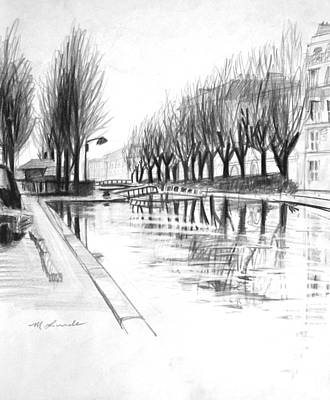 Paris Winter Canal Original