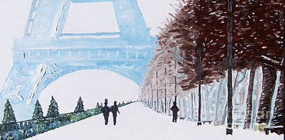 Painting - Paris Wintertime by Kevin Croitz