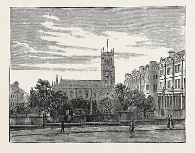 Parish Drawing - Parish Church, Huddersfield, Uk by English School