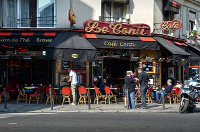 Photograph - Parisian Cafe Le Conti by RicardMN Photography