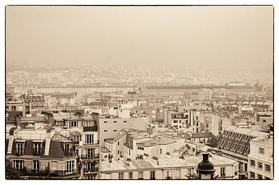 Photograph - Parisian City Rooftops by Lenny Carter