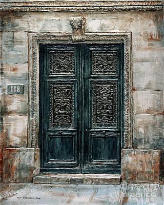 Painting - Parisian Door No. 118 by Joey Agbayani