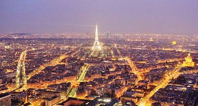 Paris Skyline Royalty-Free and Rights-Managed Images - Parisian Dusk by David Broome