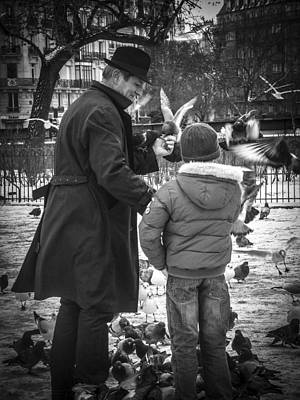 Justin Woodhouse Photograph - Parisian Father And Son by Kaleidoscopik Photography