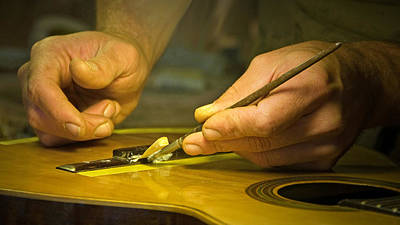 Parisian Luthier At Work Art Print by Kent Sorensen