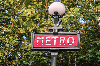 Photograph - Parisian Metro Sign by Dany Lison
