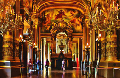 Photograph - Parisian Opera House by Georgiana Romanovna
