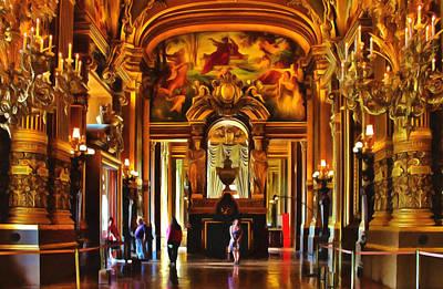 Hdr Mixed Media - Parisian Opera House by Georgiana Romanovna