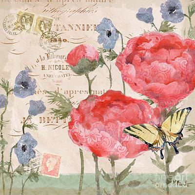 Dragonflies Painting - Parisian Peony II by Paul Brent