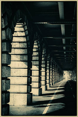 Parisian Rail Arches Art Print by Lenny Carter