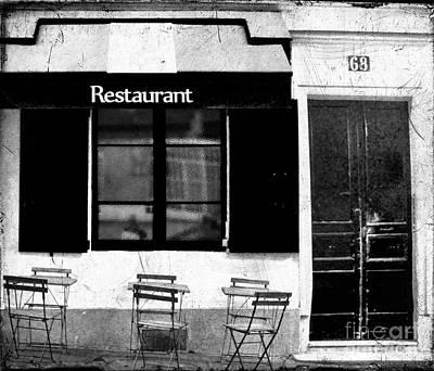 Photograph - Parisian Restaurant by Karen Lewis