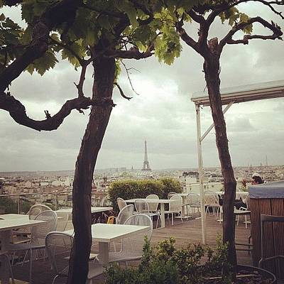 Restaurant Wall Art - Photograph - Parisian Rooftop by Heidi Hermes
