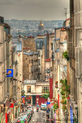 Photograph - Parisian Street View by Malu Couttolenc