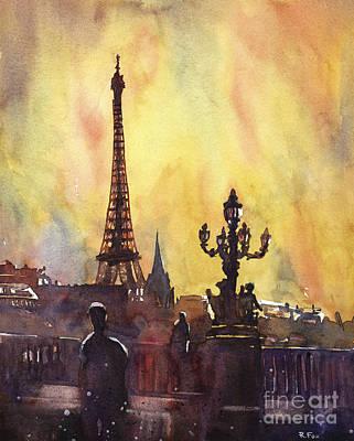 Parisian Sunset Art Print by Ryan Fox