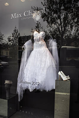 Parisian Wedding Dress Art Print by Glenn DiPaola