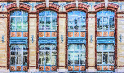 Digital Art - Parisian Windows by Liz Leyden
