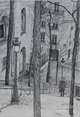 Drawing - Parisienne Walkways by Jackie Mestrom