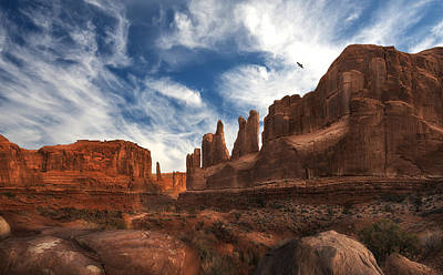 Park Ave Overlook At Arches National Park Art Print by Gary Warnimont