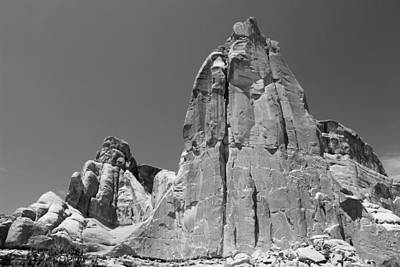 Photograph - Park Avenue Arches National Park 3 Bw by Mary Bedy