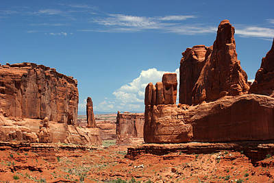 Photograph - Park Avenue Arches National Park 4 by Mary Bedy