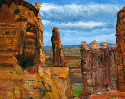 Park Avenue Arches National Park Art Print