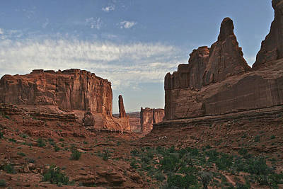 Photograph - Park Avenue At Arches National Park by SC Heffner