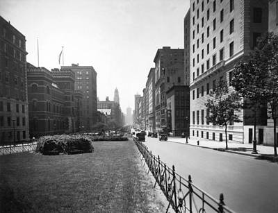 Vanishing America Photograph - Park Avenue In New York City by Underwood Archives