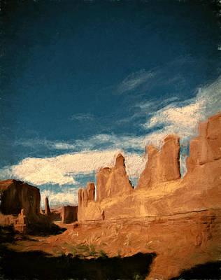 Desert Sunset Mixed Media - Park Avenue Trail by John K Woodruff
