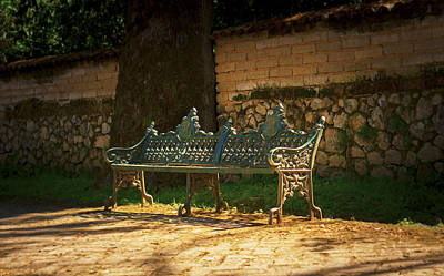 Alley Spring Photograph - Park Bench by Aged Pixel