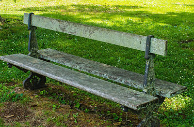 Photograph - Park Bench by Robert Hebert