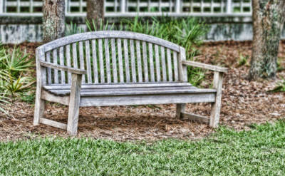 Upscale Photograph - Park Bench by Scott Pellegrin
