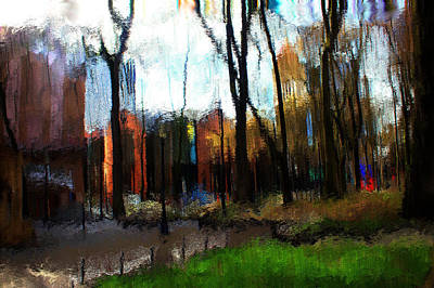Art Print featuring the mixed media Park Block I by Terence Morrissey