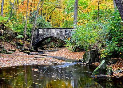 Photograph - Park Bridge by Frozen in Time Fine Art Photography