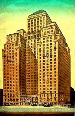 Painting - Park Central Hotel In New York City by Dwight Goss