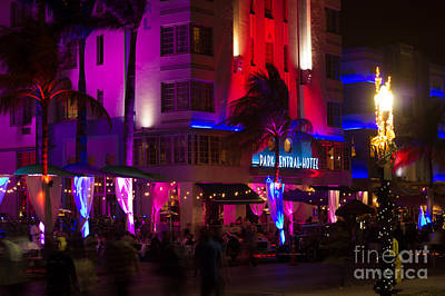 Photograph - Park Central Hotel South Beach by Rene Triay Photography