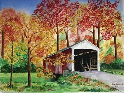 Park County Covered Bridge Art Print by Anita Riemen