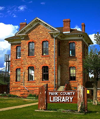 Photograph - Park County Library by Jeff Gater