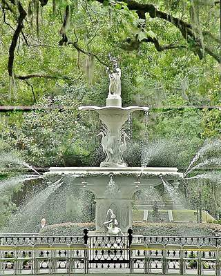 Forsyth Park Fountain - Savannah Georgia Art Print