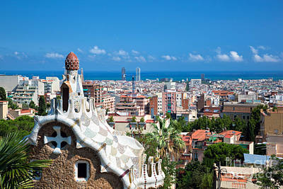 Modernism Photograph - Park Guell Barcelona by Michal Bednarek