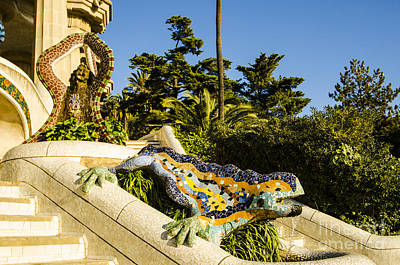 Photograph - Park Guell Dragon by Deborah Smolinske