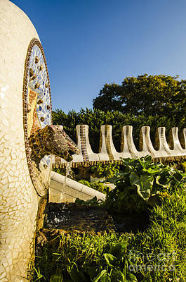 Photograph - Park Guell Fountain by Deborah Smolinske