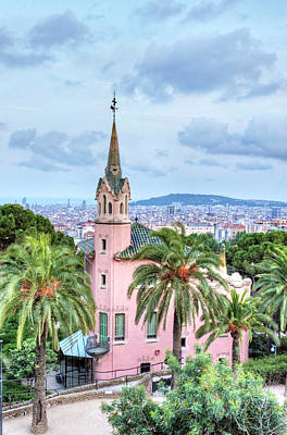 Antoni Gaudi Wall Art - Photograph - Park Guell, Gaudi House Museum by Danita Delimont