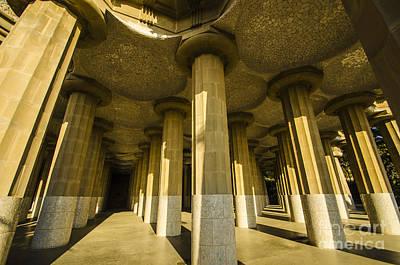 Photograph - Park Guell Marketplace by Deborah Smolinske