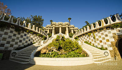 Photograph - Park Guell Stairway by Deborah Smolinske