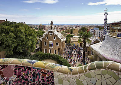 Photograph - Park Guell by Yelena Rozov