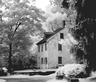 Infrared Photograph - Park House by Jerome Moore